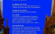 Visualizza la notizia: Festa di Sancta Maria di Mezo Gosto: MESSA SOLENNE E DISCESA DEI CANDELIERI